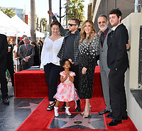 LOS ANGELES, CA. March 29, 2019: Elizabeth Ann Hanks, Chet Hanks, Michaiah Hanks, Rita Wilson, Tom Hanks & Truman Hanks at the Hollywood Walk of Fame Star Ceremony honoring actress Rita Wilson.<br /> Pictures: Paul Smith/Featureflash