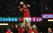 2nd December 2017, Principality Stadium, Cardiff, Wales; Autumn International Rugby Series, Wales versus South Africa; Cory Hill of Wales wins the line out ball