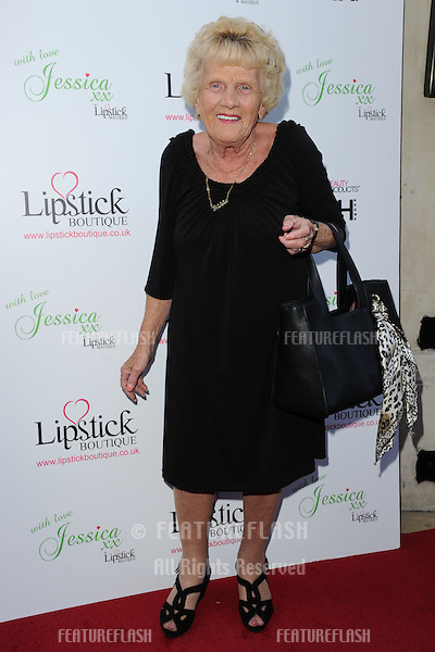 Nanny Pat arrives for the Lipstick Boutique & Jessica Wright clothing launch, Sanctum Soho Hotel, London. 21/08/2012 Picture by: Steve Vas / Featureflash