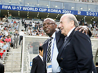 2007. FIFA President Joseph S. Blatter and Jack Austin Warner Trinidad and Tobago, FIFA Vice president and President of U17 World Cup 2007, at the final game; On April 6th 2020, in addition to Ricardo Teixeira, the former president of the Brazilian Football Confederation and the now-deceased ex-COMNEBOL president Nicolas Leoz and a co-conspirator, two former Fox employees have been indicted as part of the investigation into corruption by US official, which claims that Russia and Qatar offered and paid bribes to secure votes in the process that saw them awarded the 2018 and 2022 World Cups,  an indictment in the United States alleges. The document, was brought by federal prosecutors in New York as part of the long-running investigation into corruption surrounding football's governing body