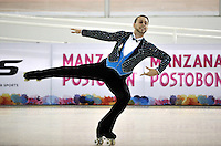 CALI - COLOMBIA - 19 - 09 - 2015: Alexandre Polland, deportista de Estados Unidos, durante la prueba de Solo Danza Obligatorias Mayores Varones, en el LX Campeonato Mundial de Patinaje Artistico, en el Velodromo Alcides Nieto Patiño de la ciudad de Cali. / Alexandre Polland, sportman of United States, during the Compulsory Solo Dance Senior Men test, in the LX World Championships  Figure Skating, at the Alcides Nieto Patiño Velodrome in Cali City. Photo: VizzorImage / Luis Ramirez / Staff.