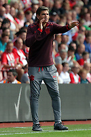 Southampton manager Mauricio Pellegrino gives instructions to his players during the Premier League match between Southampton and Swansea City at the St Mary's Stadium, Southampton, England, UK. Saturday 12 August 2017
