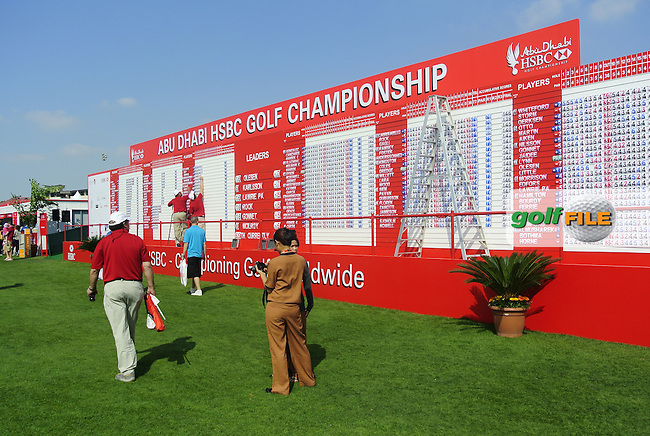The Championship Village during Friday's Round 2 of the HSBC Golf Championship at the Abu Dhabi Golf Club, United Arab Emirates, 27th January 2012 (Photo Eoin Clarke/www.golffile.ie)