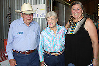 NWA Democrat-Gazette/CARIN SCHOPPMEYER Jim and  Marilyn Necessary, Horses for Healing Barn Dance honorary cowgboy and cowgirl, with Debbie Studyvin welcome guests to the annual fundraiser on June 11 in Bentonville.