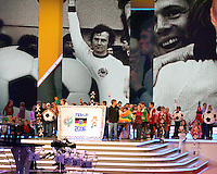 German schoolchildren with World Cup 2006 projects. The final draw for the 2006 FIFA World Cup took place in the Congress Centre in Leipzig, Germany on December 9 2005.