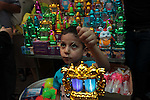 A Palestinian boy carries a traditional Ramadan lantern at a market in Gaza City, as Muslims prepare for the upcoming holy fasting month of Ramadan, on June 28, 2014. on the eve of the start of the Muslim holy month of Ramadan. During Ramadan, Muslim believers abstain from eating, drinking, smoking and having sex from dawn until sunset. Ramadan is sacred to Muslims because it is during that month that tradition says the Koran was revealed to the Prophet Mohammed. Photo by Ashraf Amra