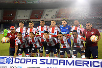BARRANQUILLA - COLOMBIA - 12-08-2015.  Formacion  del Atletico Junior de Colombia   contra Melgar del Peru  durante partido  por la fecha 1 de la Copa Suramericana jugado en el estadio Metropolitano / Team  of Atletico  Junior  before a match  against  of  Melgar of Peru  during a match for the firts  date of the Liga Aguila II 2015 played at Metropolitano  stadium in Barranquilla city. Photo: VizzorImage / Alfonso Cervantes  / Contibuidor