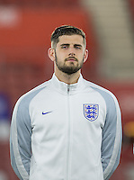 Winning goalscorer Jack Stephens (Southampton) of England before the match during the Under 21 International Friendly match between England and Italy at St Mary's Stadium, Southampton, England on 10 November 2016. Photo by Andy Rowland.
