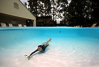Kids Swimming in Pool in Southern California