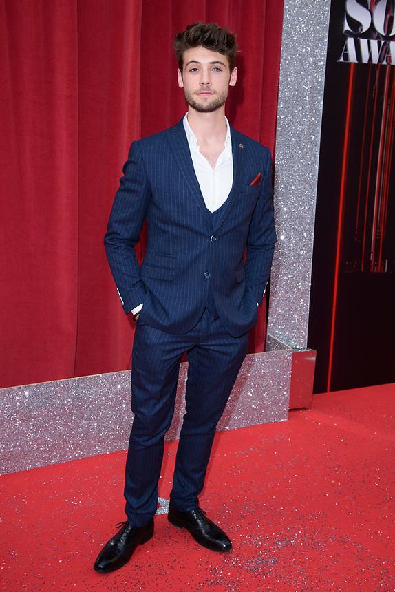 Ned Porteous<br /> arriving for the British Soap Awards 2018 at the Hackney Empire, London<br /> <br /> ©Ash Knotek  D3405  02/06/2018