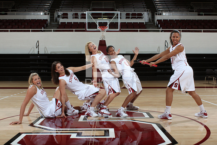 STANFORD, CA - SEPTEMBER 28:  (Not in order) Rosalyn Gold-Onwude, JJ Hones, Jayne Appel, Michelle Harrison, and Melanie Murphy during picture day on September 28, 2009 at Maples Pavilion in Stanford, California.
