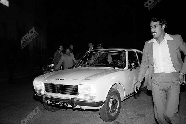 Muammar el-Qaddafi, leader of Libya, at the Tripoli Summit. Tripoli, December 1977.