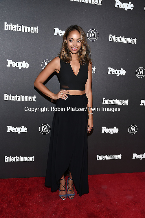 Amber Stevens West attends the Entertainment Weekly &amp; PEOPLE Magazine New York Upfronts Celebration on May 16, 2016 at Cedar Lake in New York, New York, USA.<br /> <br /> photo by Robin Platzer/Twin Images<br />  <br /> phone number 212-935-0770