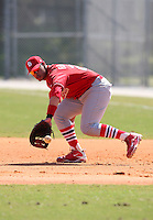 March 19, 2010:  Third Baseman Jonathan Rodriguez of the St. Louis Cardinals organization during Spring Training at the Roger Dean Stadium Complex in Jupiter, FL.  Photo By Mike Janes/Four Seam Images