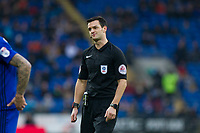 Referee Andy Madley during the Sky Bet Championship match between Cardiff City and Sunderland at the Cardiff City Stadium, Cardiff, Wales on 13 January 2018. Photo by Mark  Hawkins / PRiME Media Images.