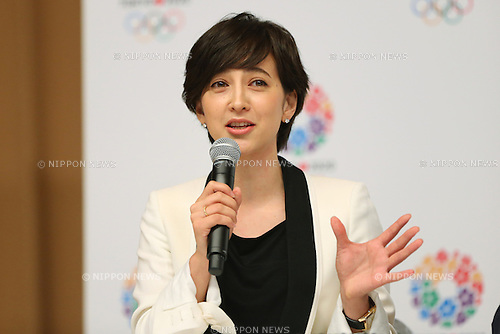 Christel Takigawa, <br /> September 10, 2013  : <br /> International Olympic Committee (IOC) session return home press conference <br /> in Shinjuku, Tokyo, Japan. <br /> (Photo by Daiju Kitamura/AFLO SPORT)