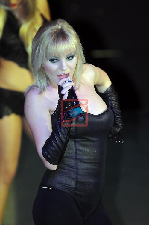Alexandra Stan concert at the Millennium nightclub in Sils (Girona).