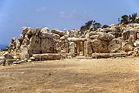 Mnajdra, Malta.  Stone Temple dating from approximately 3600 BC.  The stone temples of Malta are the oldest stone constructions in the world, pre-dating the Egyptian pyramids and Stonehenge by as much as a thousand years.