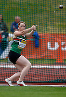Photo: Richard Lane/Richard Lane Photography..Aviva World Trials & UK Championships athletics. 11/07/2009. Laura Douglas in the women's hammer.