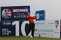 Chris Paisley (ENG) on the 10th tee during the Pro-Am of the Betfred British Masters 2019 at Hillside Golf Club, Southport, Lancashire, England. 08/05/19<br /> <br /> Picture: Thos Caffrey / Golffile<br /> <br /> All photos usage must carry mandatory copyright credit (© Golffile | Thos Caffrey)