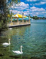 Deutschland, Bayern, Oberbayern, Starnberger See, Starnberg: Cafe, Biergarten direkt am See | Germany, Bavaria, Upper Bavaria, Lake Starnberg, Starnberg: cafe, beer garden