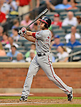 24 July 2012: Washington Nationals infielder Stephen Lombardozzi in action against the New York Mets at Citi Field in Flushing, NY. The Nationals defeated the Mets 5-2 to take the second game of their 3-game series. Mandatory Credit: Ed Wolfstein Photo