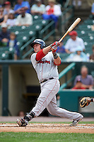 Pawtucket Red Sox catcher Matt Spring (47) at bat during a game against the Rochester Red Wings on July 1, 2015 at Frontier Field in Rochester, New York.  Rochester defeated Pawtucket 8-4.  (Mike Janes/Four Seam Images)