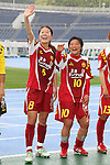 (L to R) Homare Sawa (Leonessa), Shinobu Ono (Leonessa), MAY 7th, 2011 - Football : Plenus Nadeshiko League 2011 between NTV Beleza 0-2 INAC Kobe Leonessa at Komazawa Stadium, Tokyo, Japan. (Photo by YUTAKA/AFLO SPORT) [1040]