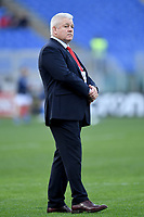 Warren Gatland, Wales coach.<br />  <br /> Roma 9-02-2019 Stadio Olimpico<br /> Rugby Six Nations tournament 2019  <br /> Italy - Wales <br /> Foto Antonietta Baldassarre / Insidefoto