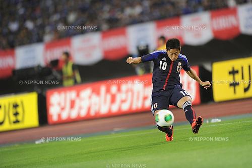 Shinji Kagawa (JPN),<br /> AUGUST 14, 2013 - Football / Soccer :<br /> Kirin Challenge Cup 2013 match between Japan 2-4 Uruguay at Miyagi Stadium in Miyagi, Japan. (Photo by Takahisa Hirano/AFLO)