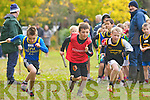 Luke Crowley Spa/Muckross, Aidan Crowley Kenmareand James Horgan Farranfore/Maine Valley sprint off during the u9 relay in the Kerry Cross Country finals in Killarney on Sunday..