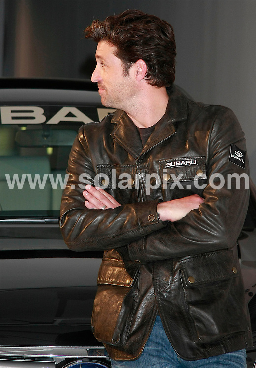 **ALL ROUND PICTURES FROM SOLARPIX.COM**.**SYNDICATION RIGHTS FOR UK, ASIA, AUSTRALIA, CANADA, DUBAI, GREECE, NEW ZEALAND, RUSSIA, SOUTH AFRICA, SOUTH AMERICA, AND USA**.American actor Patrick Dempsey from Grey's Anatomy is in Madrid at a photocall for Japanese car maker Subaru. Madrid, Spain. 25 September 2009.This pic: Patrick Dempsey..JOB REF: 10029 SPA     DATE: 25_09_2009.**MUST CREDIT SOLARPIX.COM OR DOUBLE FEE WILL BE CHARGED**.**MUST NOTIFY SOLARPIX OF ONLINE USAGE**.**CALL US ON: +34 952 811 768 or LOW RATE FROM UK 0844 617 7637**