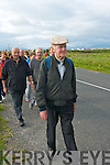 WALK OF FAITH: Fr Billy O'Carroll and friends doing his annual pilgrimage from Tralee to our Lady's Well in Ballyheigue in time for Mass for Pattern Day on Monday.   Copyright Kerry's Eye 2008