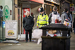© Joel Goodman - 07973 332324 . FILE PICTURE DATED 05/05/2013 of Manchester's Police and Crime Commissioner , Tony Lloyd (left) on overnight patrol with PC Gary Cave in Central Manchester as the British Home Secretary , Theresa May , takes questions at the annual Police Federation conference on licensing and policing the night time economy , today (Wednesday 15th May 2013) . Photo credit : Joel Goodman