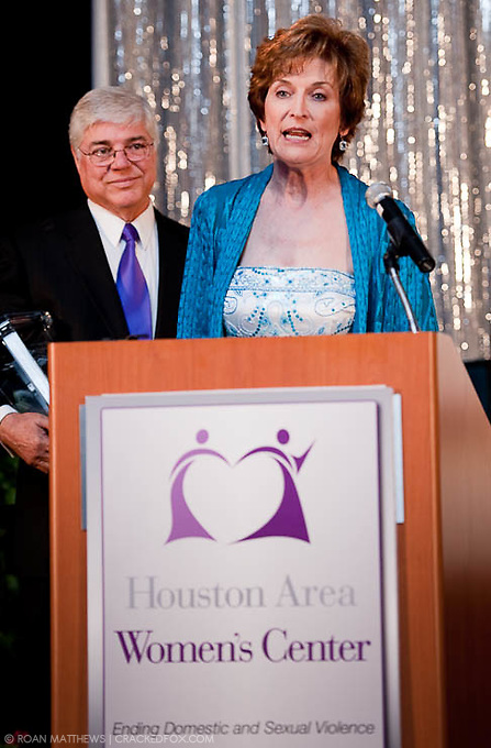 2011 Houston Area Women's Center Community Honorees LInda and Howard McCollum.