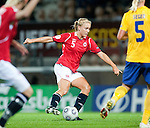 Anneli Giske, QF, Sweden-Norway, Women's EURO 2009 in Finland, 09042009, Helsinki Football Stadium.