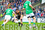 Shane Carroll Austin Stacks in action against Eamon Kelly  Saint Kierans in the Quarter Finals of the County Championship at Austin Stack Park on Sunday.