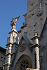 detail of the facade of the parish church Saint Bartholomew (cast.: San Bartolomé, cat.: Sant Bartomeu), designed by Joan Rubió i Bellver in 1904<br /> <br /> detalle de la fachada modernista de la iglesia parroquial de San Bartolomé (cat.: Sant Bartomeu), diseñada de Joan Rubió i Bellver en 1904<br /> <br /> Detail der Jugendstil-Fassade der Pfarrkirche San Bartolomé (kat.: Sant Bartomeu), 1904 von Joan Rubió i Bellver entworfen<br /> <br /> 3008 x 2000 px