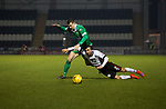 The home team's Stelios Demetriou attempts to stop an opponent during the second-half at the Paisley2021 Stadium as Scottish Championship side St Mirren (in white) played Welsh champions The New Saints in the semi-final of the Scottish Challenge Cup for the right to meet Dundee United in the final. The competition was expanded for the 2016-17 season to include four clubs from Wales and Northern Ireland as well as Scottish Premier under-20 teams. Despite trailing at half-time, St Mirren won the match 4-1 watched by a crowd of 2044, including 75 away fans.