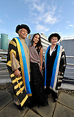 Muhammad Yunus (here photographed with daughter Monica - a New York based soprano - and GCU Vice-Chancellor Pamela Gillies) becomes Chancellor of Glasgow Caledonian University - the Bangladeshi banker and economist is a Nobel Peace Prize recipient and a Director of the United Nations Foundation - he has also appeared in The Simpsons! - picture by Donald MacLeod - 26.10.12 - 07702 319 738 - clanmacleod@btinternet.com - www.donald-macleod.com