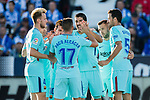 Luis Alberto Suarez Diaz (C) of FC Barcelona celebrates after scoring his goal with his teammates during the La Liga 2017-18 match between CD Leganes vs FC Barcelona at Estadio Municipal Butarque on November 18 2017 in Leganes, Spain. Photo by Diego Gonzalez / Power Sport Images