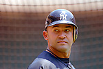 17 June 2006: Miguel Cairo, shortstop for the New York Yankees, awaits his turn in the batting cage prior to a game against the Washington Nationals at RFK Stadium, in Washington, DC. The Nationals overcame a seven run deficit to win 11-9 in the second game of the interleague series...Mandatory Photo Credit: Ed Wolfstein Photo...