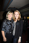 """One Life To Live's Kim Zimmer (host for the evening) poses with Meredith Patterson (AMC - """"Francesca"""" and wedding planner for """"Olivia"""" on GL) & producer for this show & sang """"""""Dream a Little Dream"""" at the 4th Annual Curtains Up for a Cure Concert benefitting Huntington's Disease Society of America on January 31, 2011 at Village Cinema East, New York City, New York. (Photo by Sue Coflin/Max Photos)"""