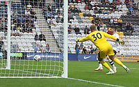 Preston North End's Sean Maguire beats Burnley's Adam Legzdins but ses his effort disallowed<br /> <br /> Photographer Mick Walker/CameraSport<br /> <br /> Football Pre-Season Friendly - Preston North End  v Burnley FC  - Monday 23st July 2018 - Deepdale  - Preston<br /> <br /> World Copyright &copy; 2018 CameraSport. All rights reserved. 43 Linden Ave. Countesthorpe. Leicester. England. LE8 5PG - Tel: +44 (0) 116 277 4147 - admin@camerasport.com - www.camerasport.com