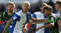 Blackburn Rovers' Ben Gladwin tussles with Doncaster Rovers' Niall Mason whilst waiting for a corner kick<br /> <br /> Photographer Stephen White/CameraSport<br /> <br /> The EFL Sky Bet League One - Blackburn Rovers v Doncaster Rovers - Saturday August 12th 2017 - Ewood Park - Blackburn<br /> <br /> World Copyright &copy; 2017 CameraSport. All rights reserved. 43 Linden Ave. Countesthorpe. Leicester. England. LE8 5PG - Tel: +44 (0) 116 277 4147 - admin@camerasport.com - www.camerasport.com
