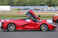 Chris Evans Ferrari LaFerrari during The Children's Trust Supercar Event at Dunsfold Park, Surrey, England on 22 June 2014. Photo by Andy Rowland.