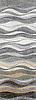 Mirage, a hand chopped tumbled natural stone mosaic, is shown in Blue Macauba, Celeste, Verde Luna, Verde Alpi, Kay's Green, Thassos, Ivory Cream, Travertino White, Renaissance Bronze, Emperador Dark and Travertino Noce.
