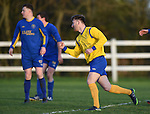 Tommy Mc Keown  of  Clare celebrates his equalising goal against Roscommon during their Oscar Traynor game in Frank Healy park, Doora. Photograph by John Kelly.