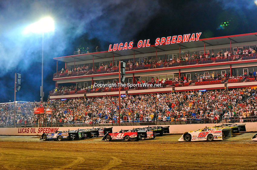 May 29, 2010; 11:08:02 PM; Wheatland, Mo., USA; The  Lucas Oil Late Model Dirt Series running the 18th Annual Dart Show-Me 100 event at the Lucas Oil Speedway.  Mandatory Credit: (thesportswire.net)
