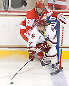 Holly Lorms (BU - 8), Dru Burns (BC - 7) - The Boston College Eagles defeated the Boston University Terriers 2-1 in the opening round of the Beanpot on Tuesday, February 8, 2011, at Conte Forum in Chestnut Hill, Massachusetts.